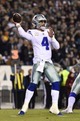 Cowboys' Dak Prescott throws the ball