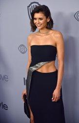 Nina Dobrev attends Instyle/Warner Bros. Golden Globes party