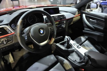 Interior of 2013 BMW 328i Displayed at Chicago Auto Show