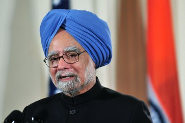 U.S. President Obama holds a press conference with Indian PM Singh in Washington