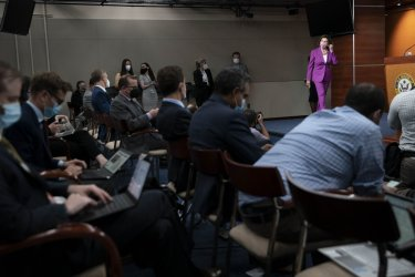 Speaker Pelosi Holds Weekly News Conference in Washington