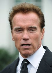 California Gov. Schwarzenegger speaks to the media at the White House in Washington.