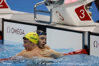 Izaac Stubbletty-Cook of Australia Gold Medal at the Tokyo Olympics