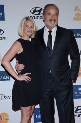 Kelsey Grammer and Kayte Walsh attend the Clive Davis pre-Grammy party in Beverly Hills, California