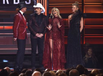 Carrie Underwood and Brad Paisley host the 2017 CMA Awards in Nashville