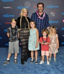 Tori Spelling and family attend 'Moana' world premiere