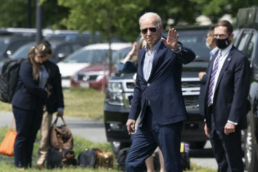 President Biden departs the White House, headed to Camp David