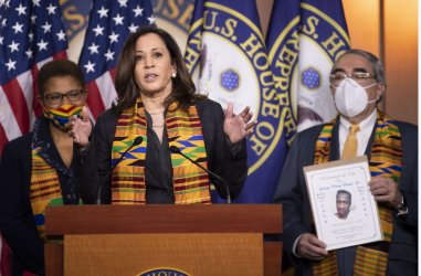 Sen. Harris speaks on Police Reform Legsilation in Washington, DC