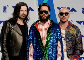 Thirty Seconds to Mars attends the 2017 MTV Video Music Awards in Inglewood, California
