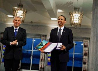 U.S. President Obama receives Nobel Peace Prize