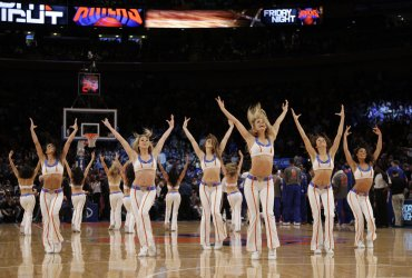 The Knicks City Dancer Cheerleaders at Madison Square Garden in New York