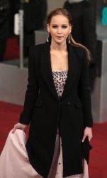 Jennifer Lawrence arrives at the Baftas Awards Ceremony