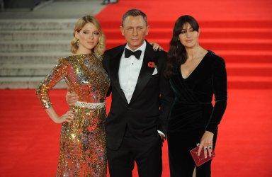 """Lea Seydoux, Daniel Craig and Monica Bellucci attend The World Premiere of """"Spectre"""" in London"""
