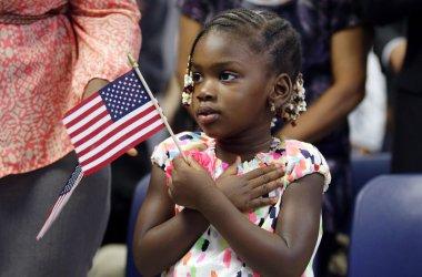 U.S. Citizenship naturalization ceremony in New York