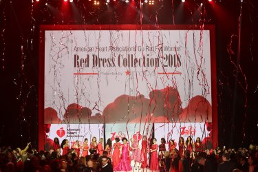 Celebrity models at American Heart Association's Go Red For Women Show