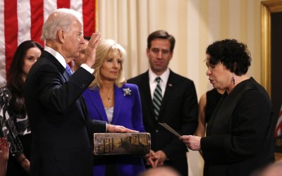 Vice-President Biden Takes Oath of Office in Washington