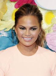 Chrissy Teigen and foot care line Amope in Grand Central
