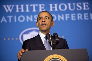 President Barack Obama delivers remarks at the White House Tribal Nations Conference in Washington