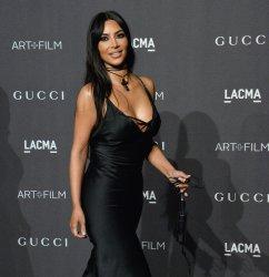 Kim Kardashian attends the eighth annual LACMA Art+Film gala in Los Angeles
