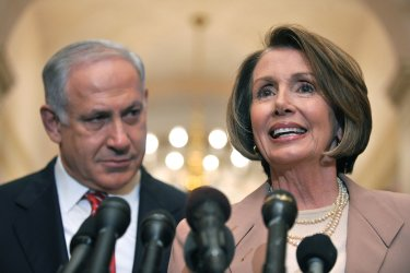 Israeli Prime Minister Benjamin Netanyahu meets with the Spreaker Pelosi in Washington