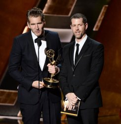 David Benioff and D.B. Weiss at the 67th Primetime Emmys in Los Angeles