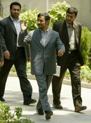 VENEZUELA'S PRESIDENT HUGO CHAVEZ MEETS HIS IRANINAN COUNTERPART MAHMOUD AHMADINEJAD
