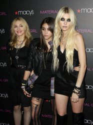 Madonna, Lourdes and Taylor Momsen at Macy's Herald Square in New York