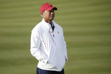 Assistant captain Tiger Woods at the Presidents Cup