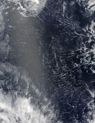Clouds 'Roll' Over Pacific Atolls