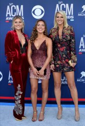 Hannah Mulholland, Naomi Cooke and Jennifer Wayne attend the Academy of Country Music Awards in Las Vegas