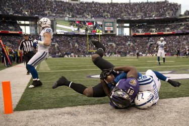 Indianapolis Colts vs. Baltimore Ravens in the AFC Wild Card Round in Baltimore