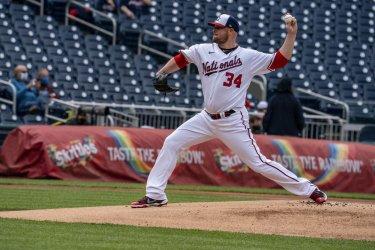 Washington Nationals pitcher Jon Lester