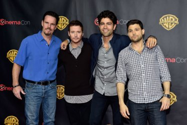 Actors Kevin Dillon, Kevin Connolly, Adrian Grenier, and Jerry Ferrara attends the 2015 CinemaCon in Las Vegas