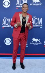 Jimmie Allen attends the Academy of Country Music Awards in Las Vegas