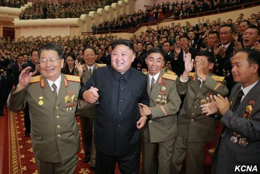 North Korean Leader Kim Jong Un Hosts Banquet Celebrating Country's Nuclear Scientists and Technicians
