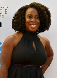 Uzo Aduba attends the 48th NAACP Image Awards in Pasadena, California
