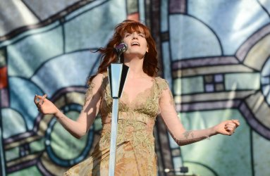 Florence and the Machine performs live at Hackney Weekend.