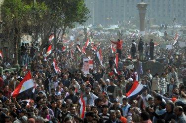 Egyptian President Hosni Mubarak Resignes the Presidency