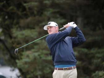 Corey Conners on the 1st day of the Open Championship at Royal Portrush