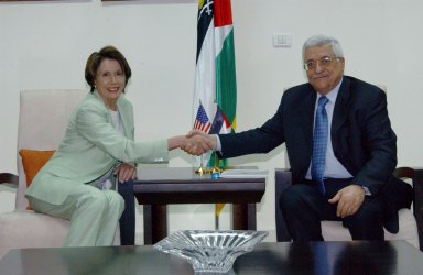 PELOSI AND ABBAS MEET