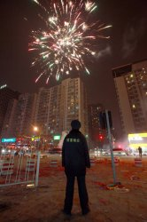 Fireworks light up Beijing during Lantern Festival