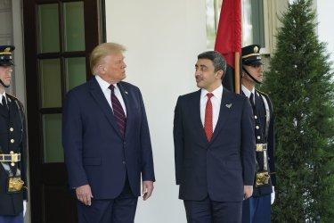 Trump Welcomes Sheikh Abdullah bin Zayed bin Sultan Al Nahyan of the United Arab Emirates