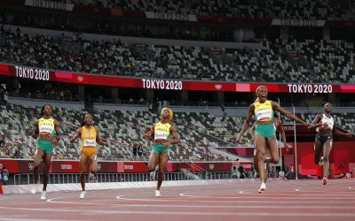 Women's 100m Medalists at the Tokyo Olympics