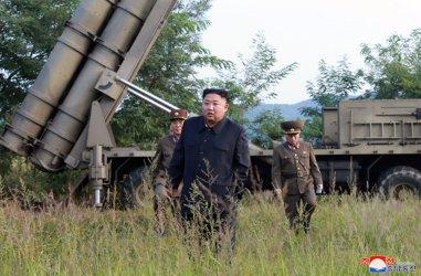 North Korean Leader Kim Jong Un Supervising Weapons Testing