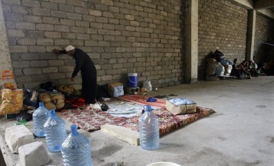 Iraqi Christians take a church in Erbil as a shelter