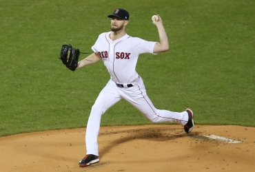 Red Sox' Chris Sale delivers to Dodgers during World Series Game 1