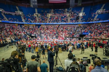 Vice President Mike Pence Speaks at a Trump Rally in Tulsa