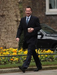 Jeremy Hunt arrives at Cabinet meeting at No.10 Downing St