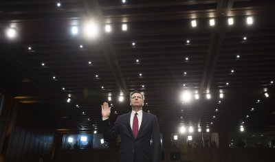 Former FBI Director Comey Testifies on Capitol Hill in Washington