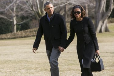 President Obama And First Lady Return To The White House